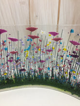 Load image into Gallery viewer, Wildflower Large Fused Glass Wave