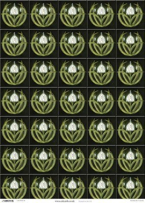 Wrapping Paper Sheet: Snowdrops