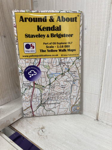 Around and About Kendal, Staveley and Brigsteer Walking Map - The Coast Office