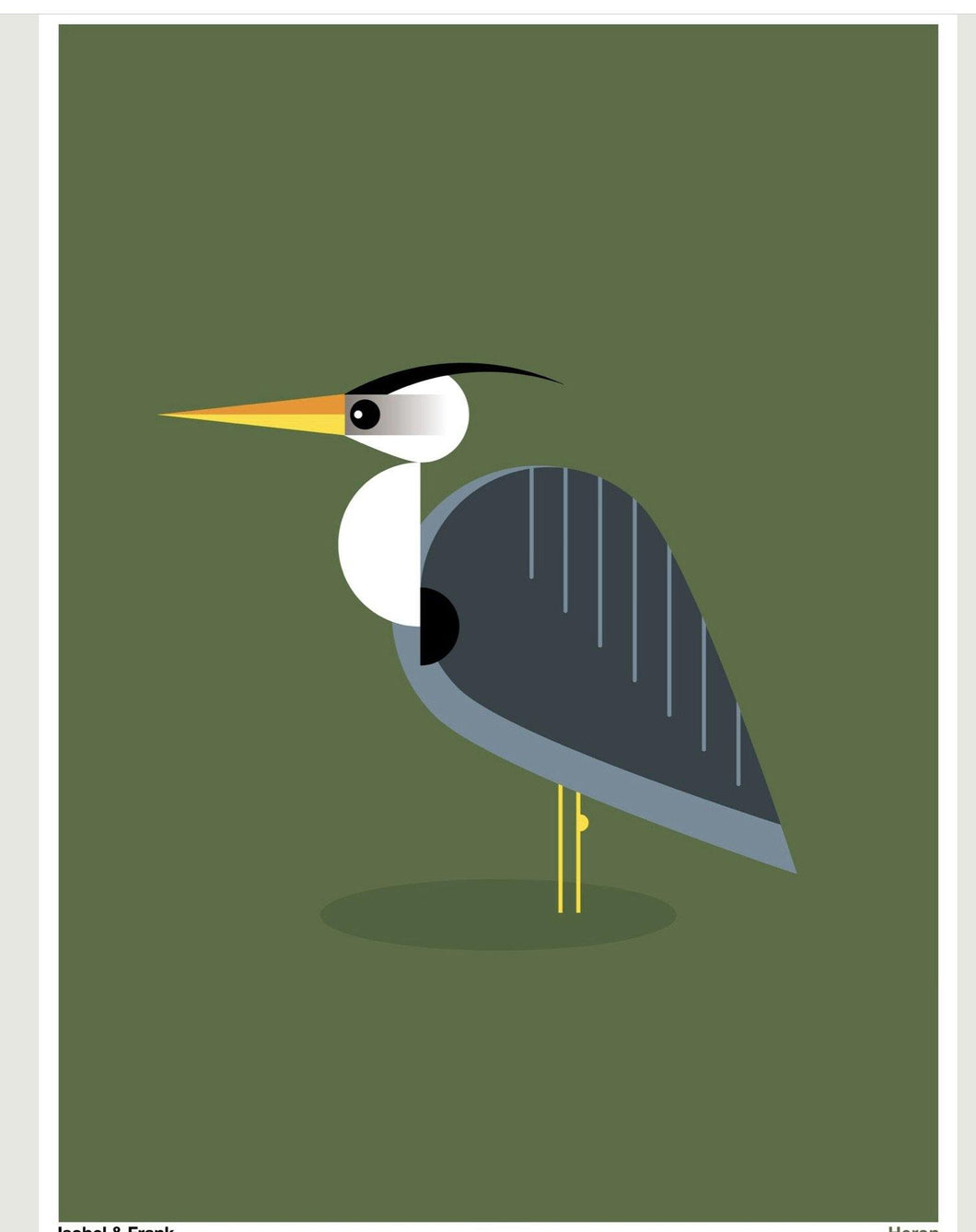 Heron (Framed or Unframed) 30 x 40cm Print - The Coast Office