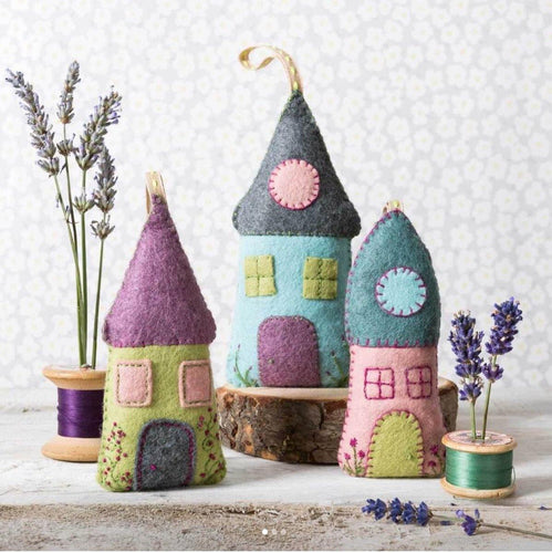 Felt Craft Kit by Corinne Lapierre:  Lavender Houses - The Coast Office