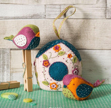Load image into Gallery viewer, Felt Craft Kit by Corinne Lapierre:  Birdhouse and Birds - The Coast Office