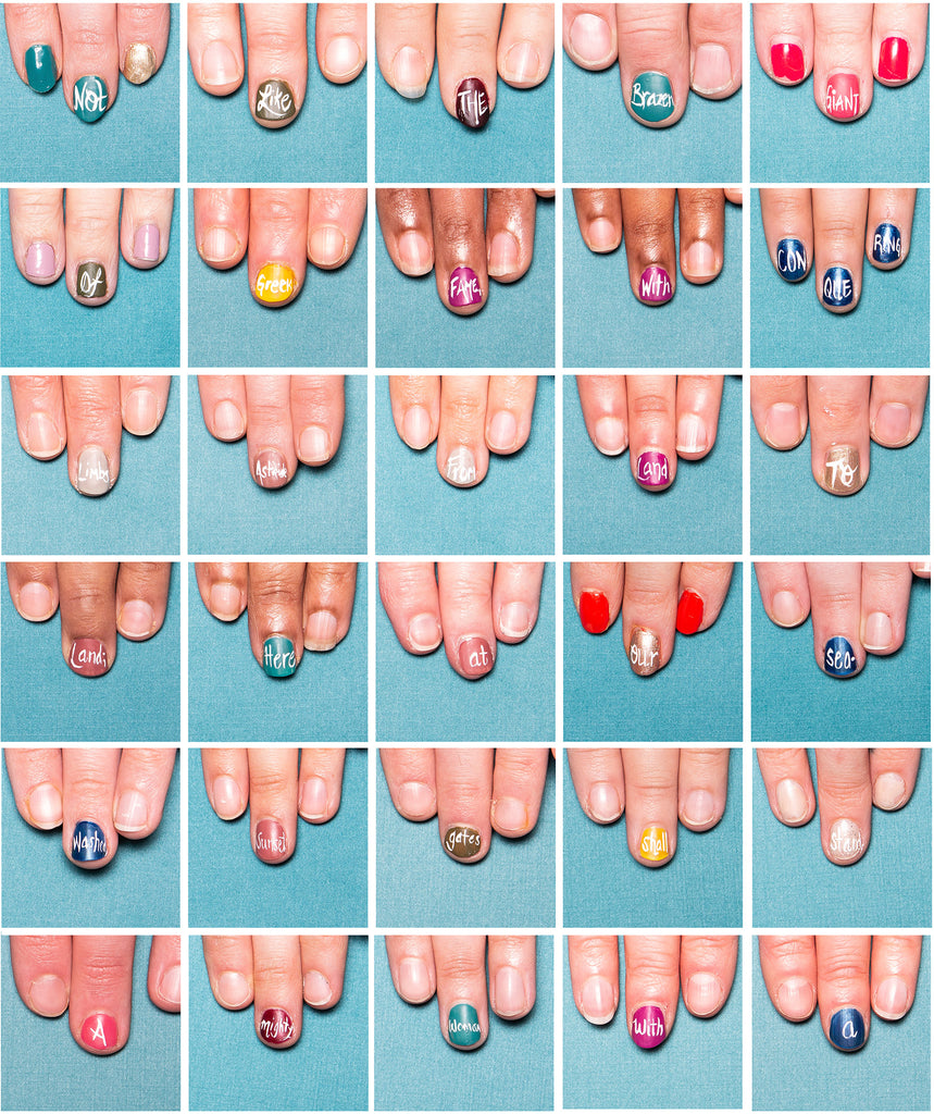 Claws Out nail art poem