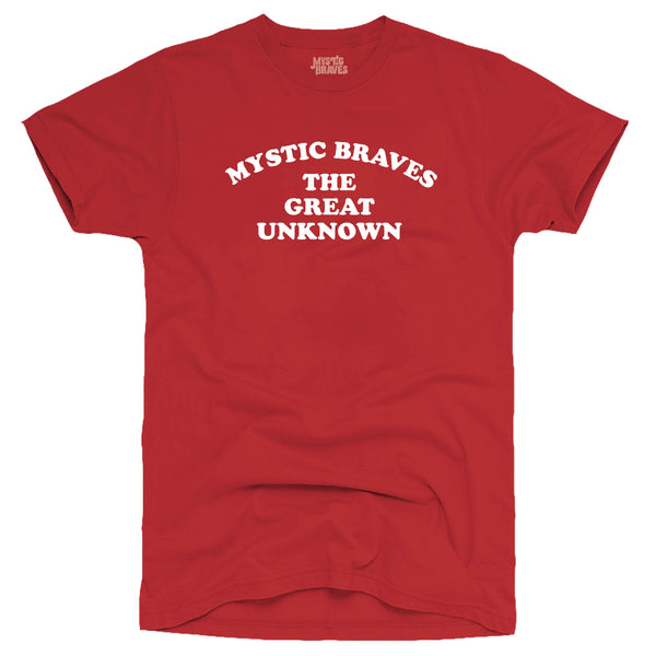 """The Great Unknown"" Mens Red T-Shirt"