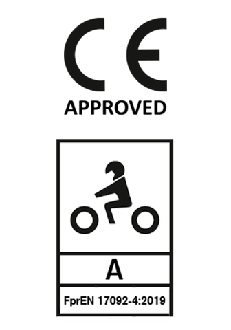 A level CE ce certification motorcycle safety