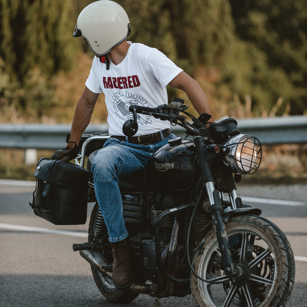 Best motorcycle look for riders - Racered biker jeans