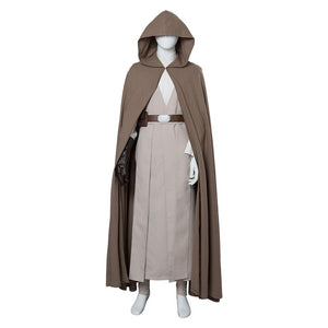 Star Wars 8 The Last Jedi Luke Skywalker Outfit Cosplay Costume Ver 2