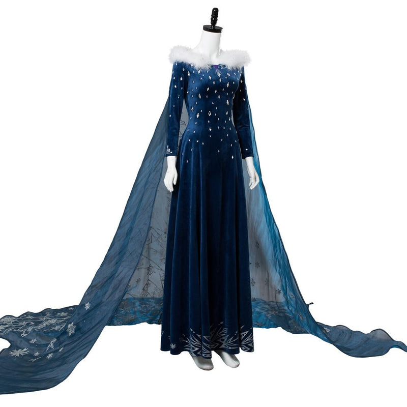 Disney Frozen frozer Princess Elsa Full Dress Cosplay Costume