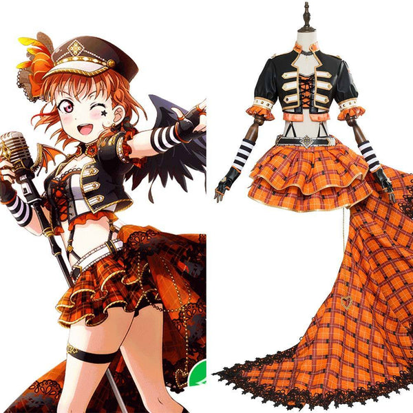 Love Live Sunshine Chika Takami Aqours Punk Rock Dress Outfit Cosplay Costume