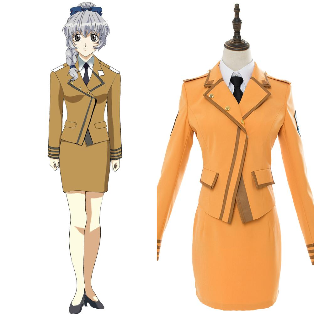 Full Metal Panic Invisible Victory Teletha Uniform Dress Cosplay Costume