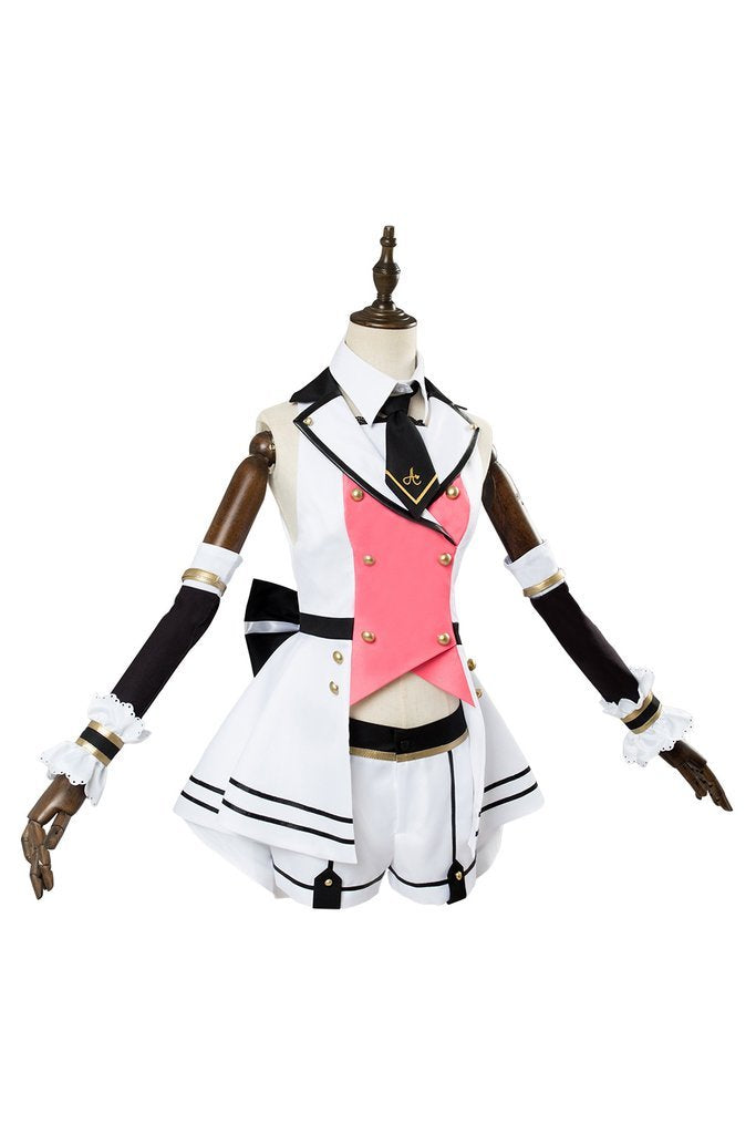 A I Channel Kizuna Ai Cosplay Costume Girls Pink Outfit