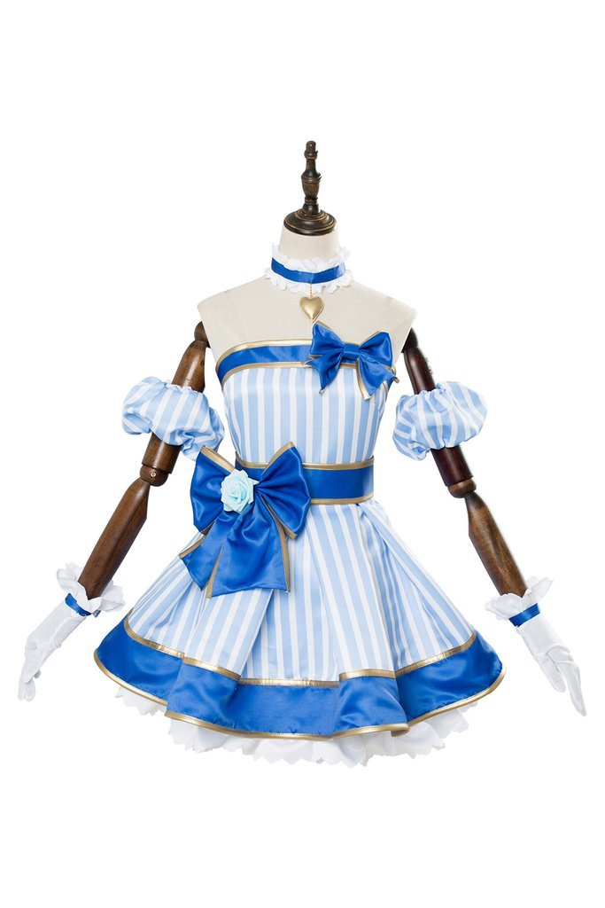 A I Channel Kizuna Ai Cosplay Dress Costume Blue