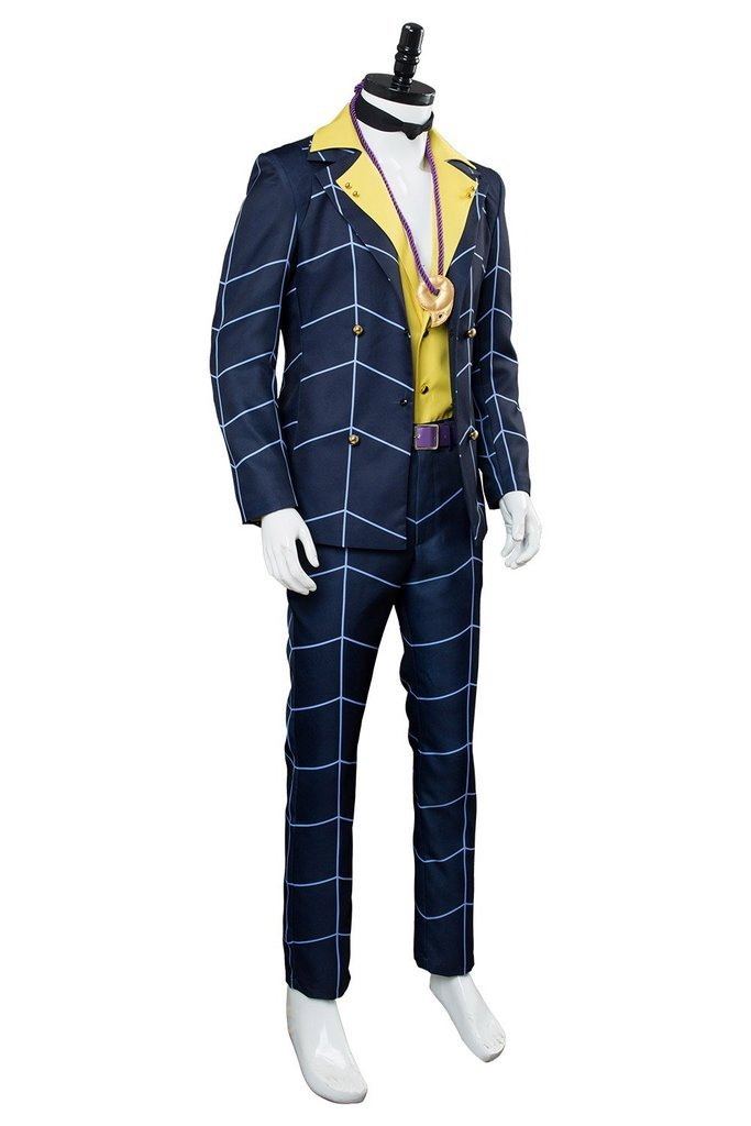 Anime Jojos Bizarre Adventure Golden Wind Prosciutto Cosplay Costume