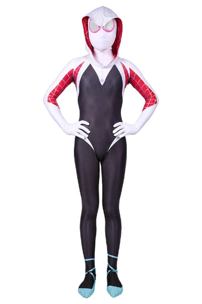 Kids Spider Man Into The Spider Verse Spider Gwen Halloween Costumes For Girls