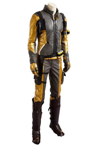 Overwatch Soldier 76 Bio Jack Morrison Gold Edition Outfit Cosplay Costume