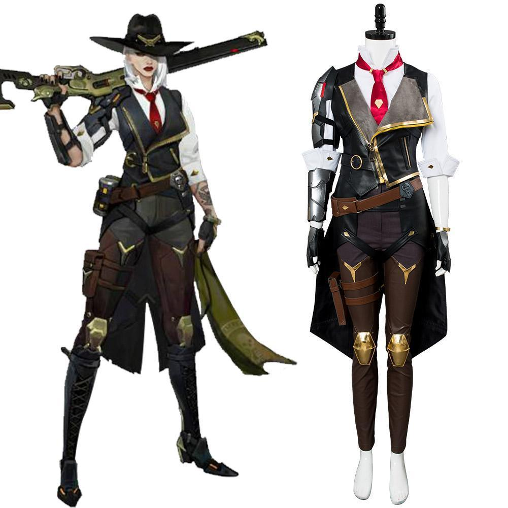 Overwatch Ashe Elizabeth Caledonia Outfit Cosplay Costume