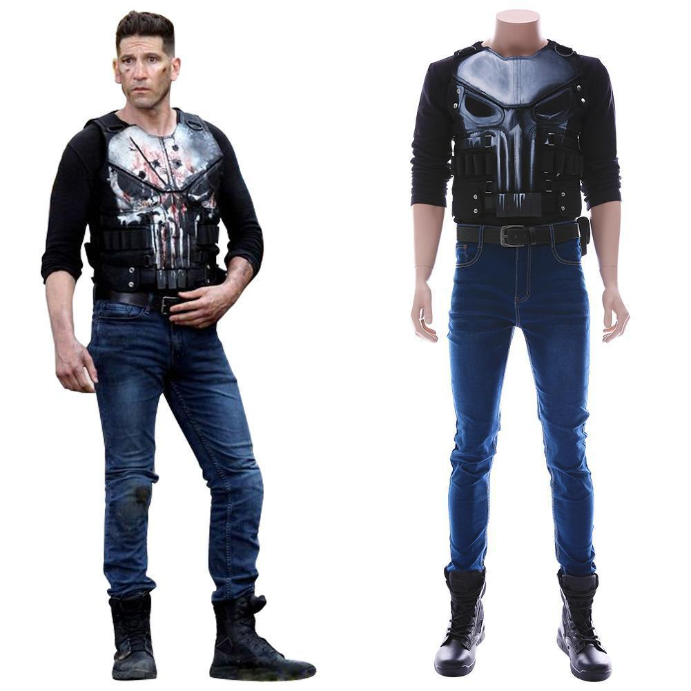 Marvel S The Punisher Season 2 Frank Castle Outfit Cosplay Costume