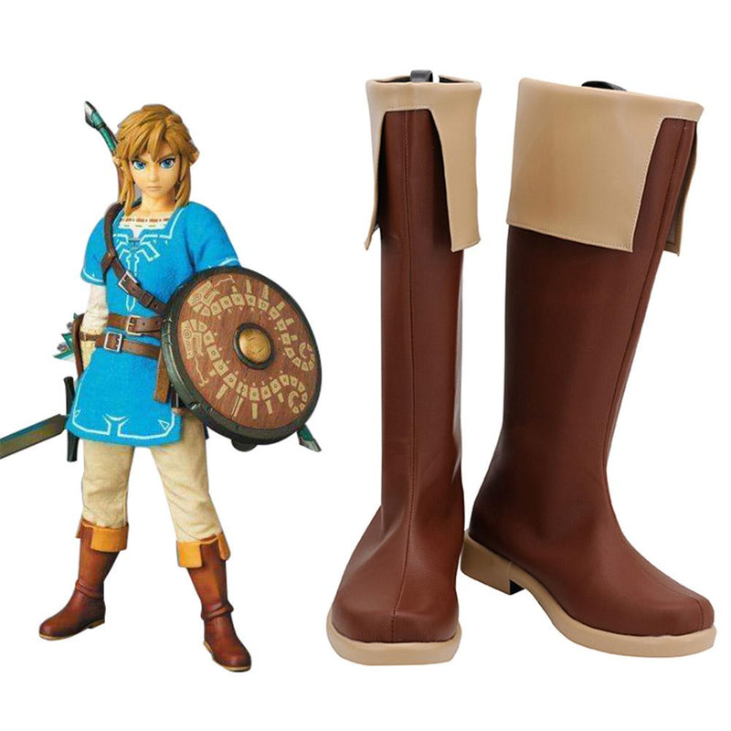 The Legend Of Zelda Breath Of The Wild Link Boots Halloween Costumes Accessory Cosplay Shoes