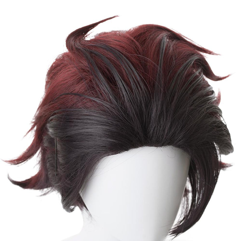 Blade Of Demon Destruction Kamado Tanjirou Outfit Cosplay Wig