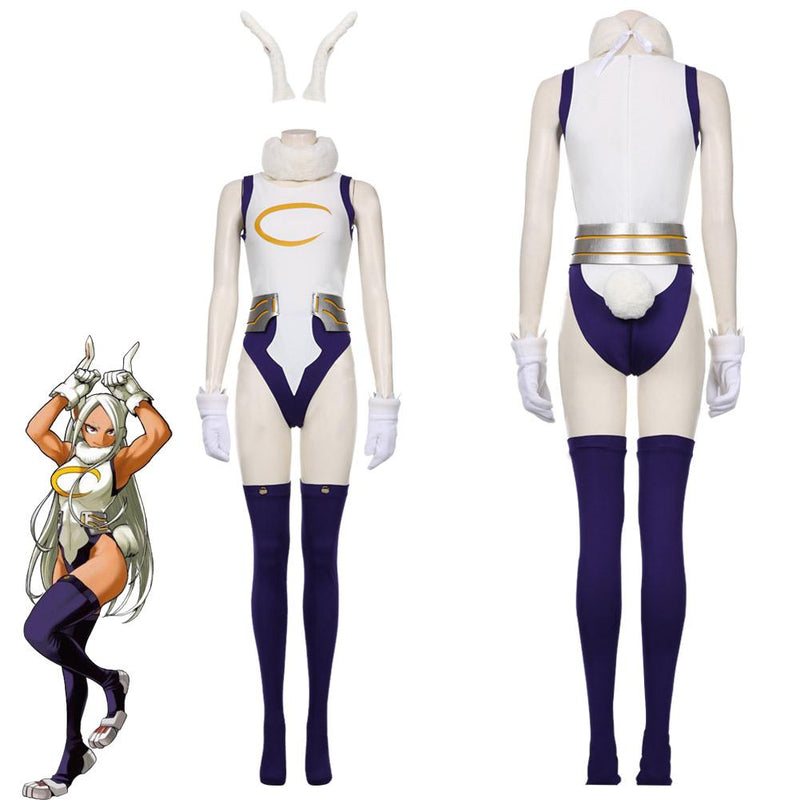 My Hero Academic Rabbit Jumpsuit Bunny Girl Cosplay Bodysuit Rompers Suit Miruko S Sexy Jumpsuit Cosplay Costume