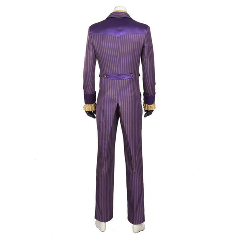 batman arkham asylum joker cosplay costume new silver stripes