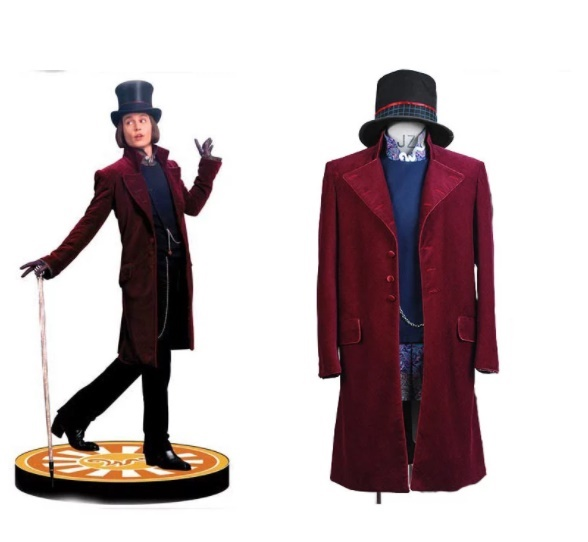 charlie and the chocolate factory willy wonka costume set