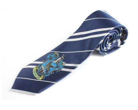 Harry Potter Hufflepuff Yellow Blue Tie Vintage Silk