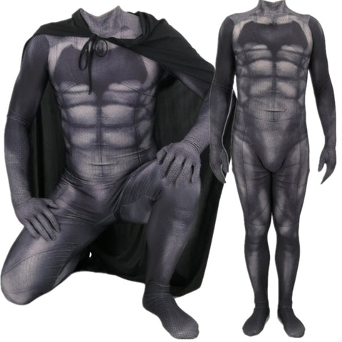 Batman v Superman: Dawn of Justice Bruce Wayne Cosplay Costume Zentai Superhero Bodysuit Suit Jumpsuits Cloak