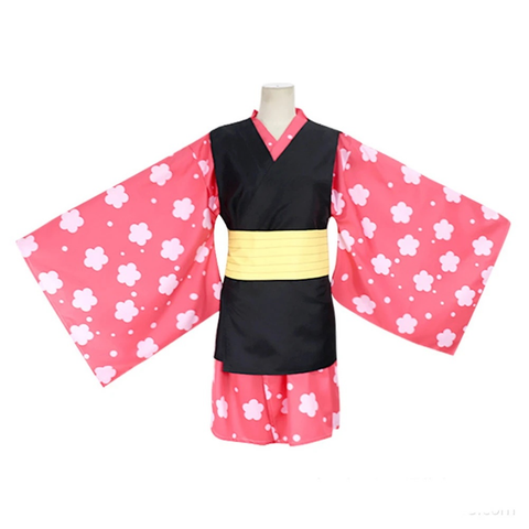 Demon Slayer Kisatsutai Makomo Kimono Uniform Outfit Halloween Cosplay Costume