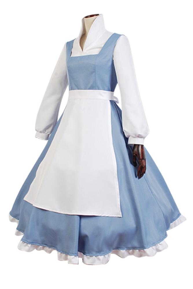 Beauty And Beast The Maid Gown Apron Dress Outfit Cosplay Costume