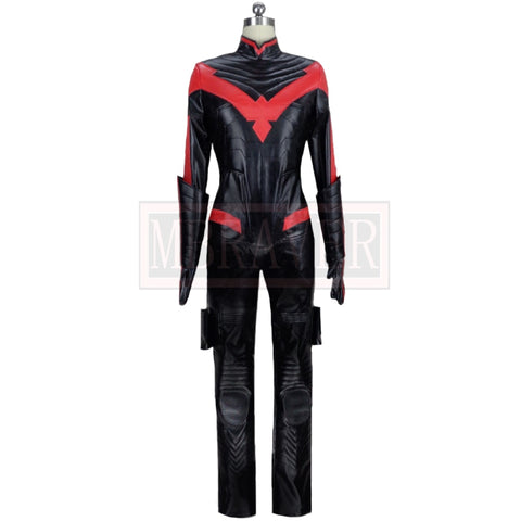 Superhero Red Robin Batman Arkham City Nightwing John Dick Grayson Cosplay Costume Halloween Christmas Custom Made Any Size