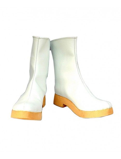 Vocaloid Rin Cosplay Boots White Shoes
