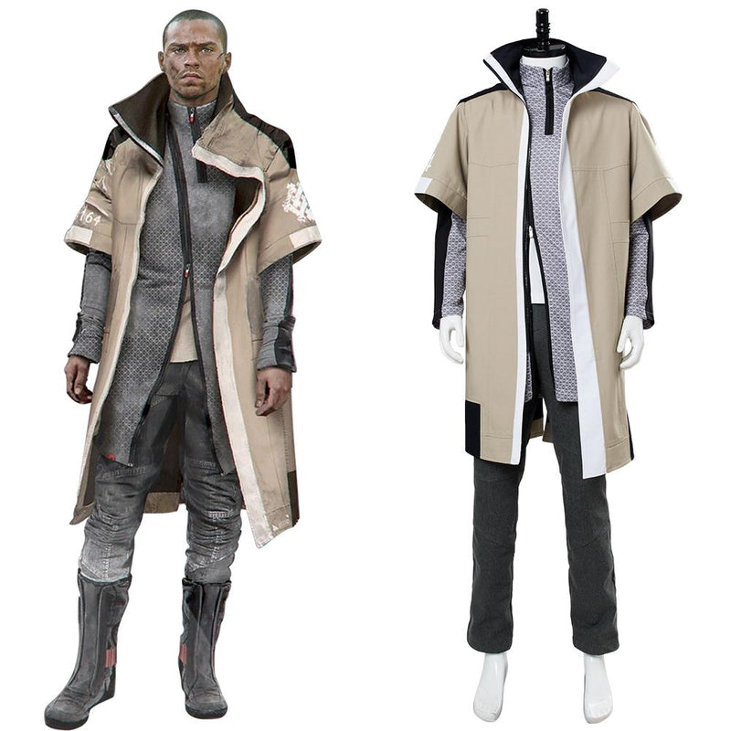 Detroit Become Human Markus Cosplay Costume Final Chapter Revolution Jericho Leader Outfit
