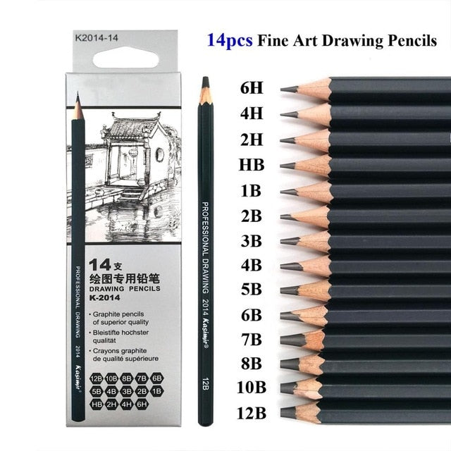 14 Pcs Drawing Pencil Set
