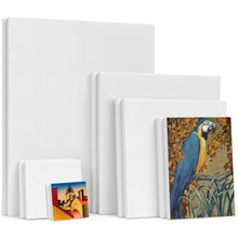 Load image into Gallery viewer, 6Pcs White Canvas Art Board with Frame