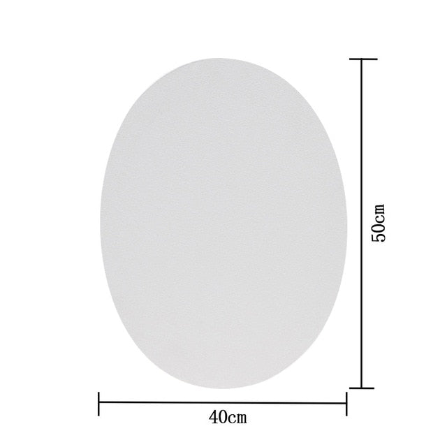 Premium Cotton White Oval Canvas with Frame