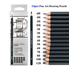 Load image into Gallery viewer, Professional Wooden Sketch Pencils