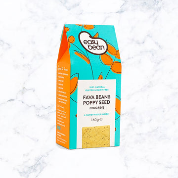 Easy & Bean - Fava Bean & Poppy Seed Cracker