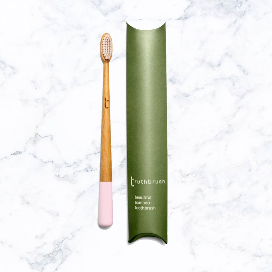 Truthbrush Bamboo Toothbrush - Petal Pink