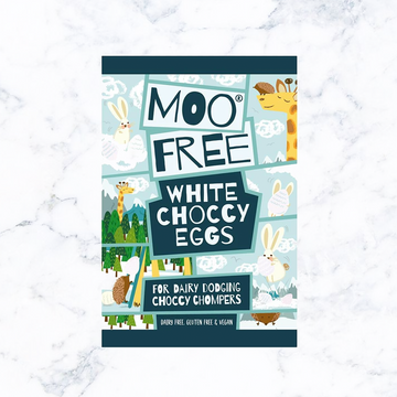 Moo Free Mini Easter Eggs - White Chocolate