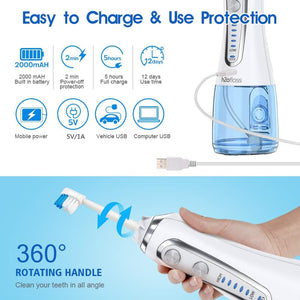 5 Modes Portable Dental Water Flosser Jet