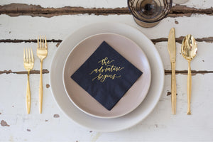 """The Adventure Begins"" Cocktail Napkin Set"