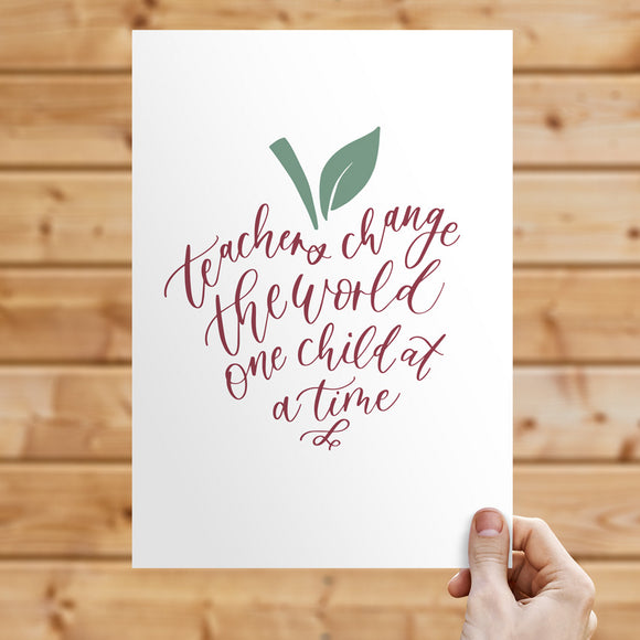 Gift Print for Teachers: Apple Inspiration