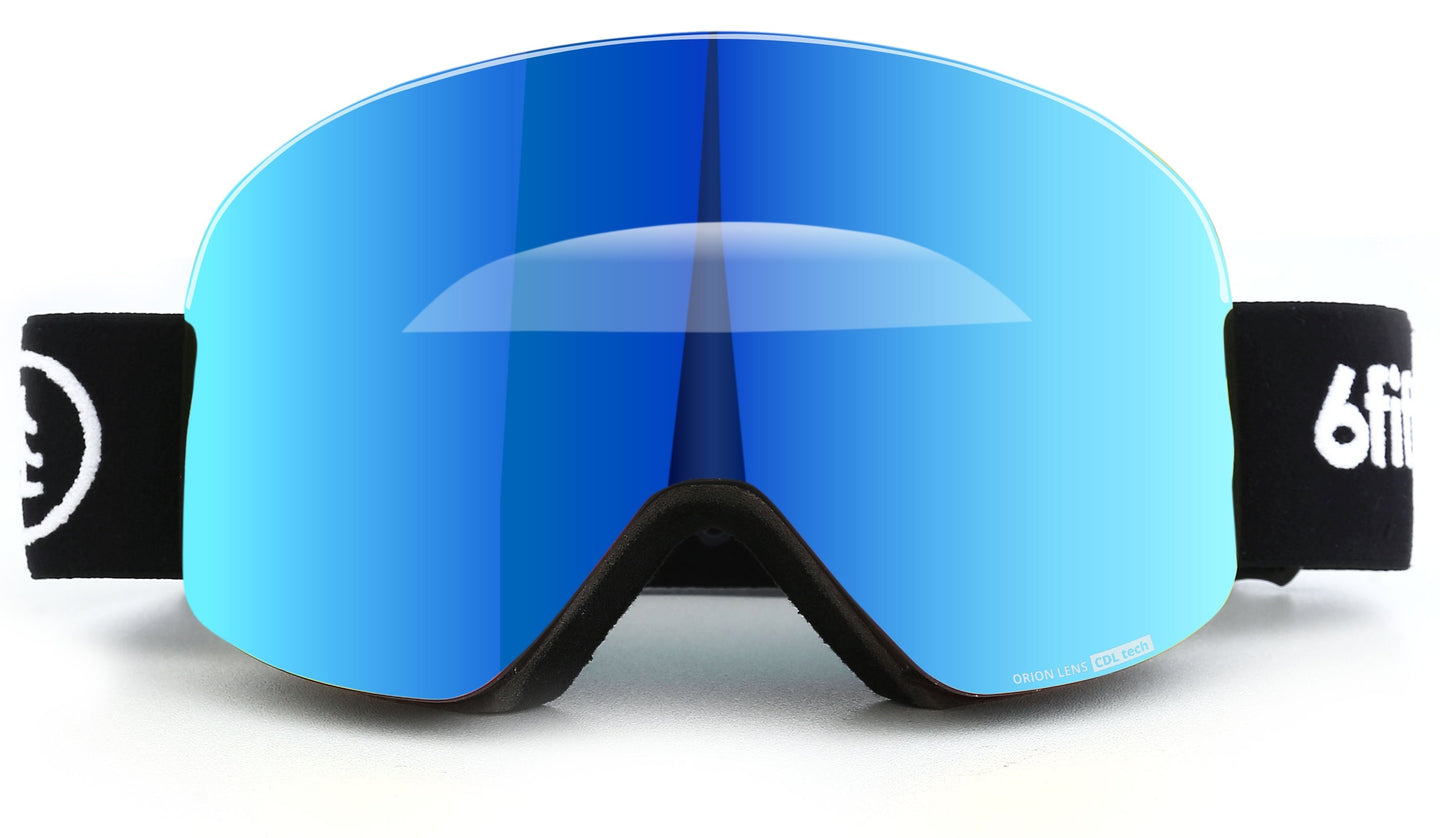 6fiftyfive Ice Blue Multilayer Lens Frameless Magnetic Ski Goggles