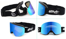 Load image into Gallery viewer, 6fiftyfive Ice Blue Multilayer Lens Frameless Magnetic Ski Goggles