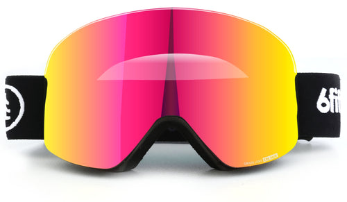 6fiftyfive Pink Unisex Orion Lens Frameless Magnetic Ski Goggles