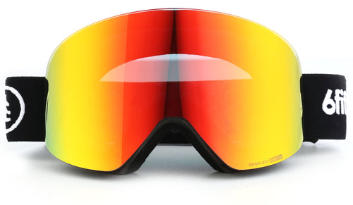 6fiftyfive Unisex Red Orion Lens Frameless Magnetic Ski Goggles