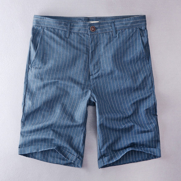 LINEN STRIPED SHORTS (2 COLORS)