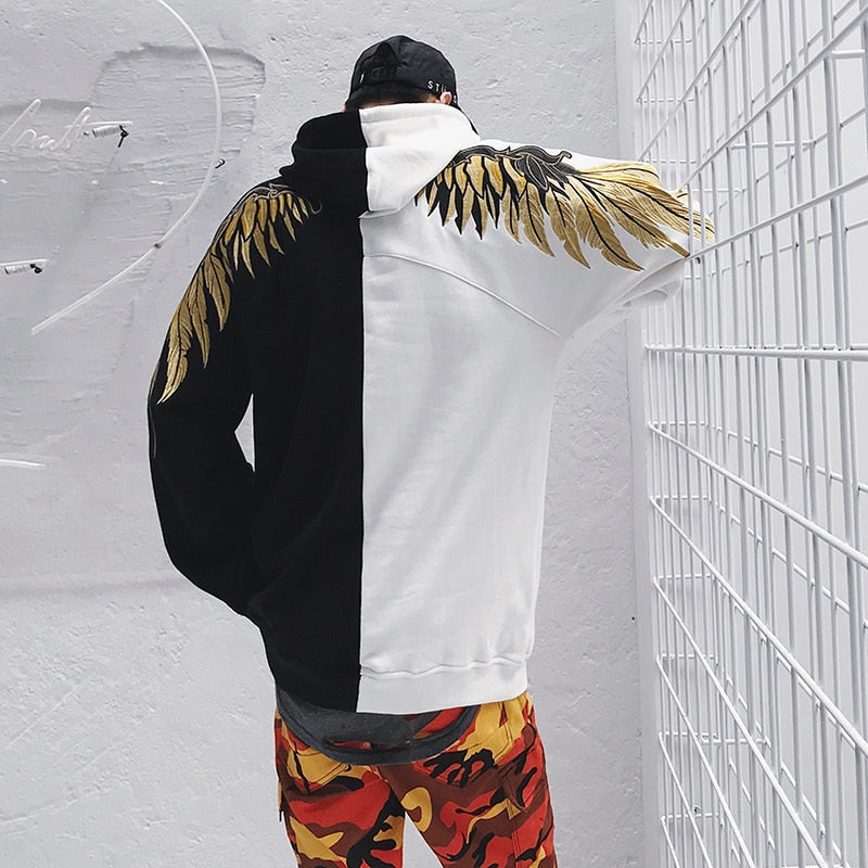 EMBROIDERED WINGS HOODIE (3 COLOURS)
