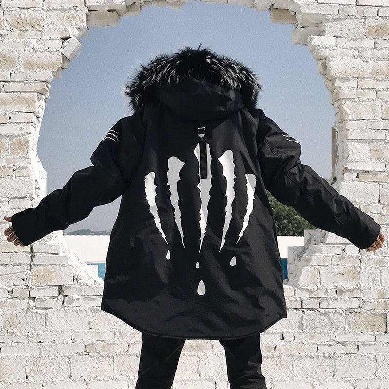 'CLAW' PARKA COAT WITH FUR